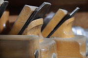 Germany, Upper Bavaria, Schaeftlarn, Wood planers, close up
