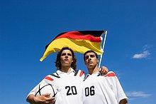 Freundschaft,Hemd,Fahne,2,Fußball,Kleidung,deutsch