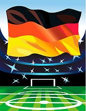 Fahne,Fußball,Stadion,deutsch