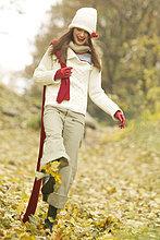 Woman enjoying Herbst