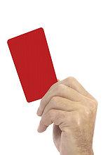rote Karte,Karten,Mann,halten