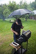 Mann,Regen,Wetter