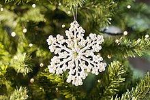 Weihnachtsdekoration in Form einer Schneeflocke