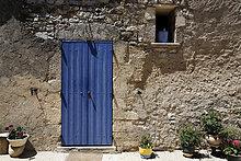 Detail einer alten Hausfassade, Provence, Frankreich, Europa