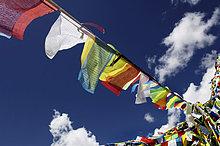 Gebetsfahnen, Yumbulagang Festung nahe Lhasa, Tibet