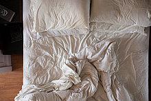 Draufsicht Unamade Bett