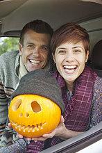 Frau ,Mann ,Kürbis ,Halloween