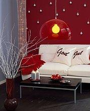 Zimmer,Weihnachten,Dekoration,rot,Wohnzimmer