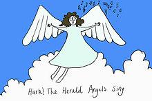 Engel singen hark the Herald Angels Sing, Illustration