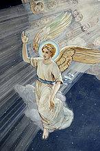 Nacht,Religion,Naher Osten,Schafhirte,Engel,Freske,Israel,Platz,Schiffswache