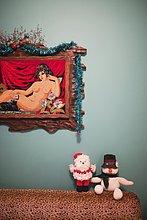 Frau,Fotografie,Zimmer,Weihnachten,Dekoration,Wohnzimmer,nackt