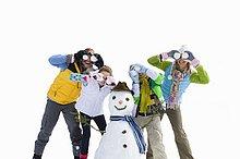 Freisteller ,Winter ,Urlaub ,Produktion ,Schneemann