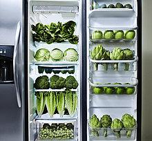 grün,Gemüse,Kühlschrank