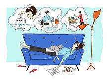 Traum ,Illustration ,Hausarbeit ,fünfziger Jahre, 50er ,Hausfrau