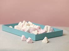 herzförmig, Herz ,Marshmallow