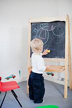 Junge - Person ,Zeichnung ,Schreibtafel, Tafel