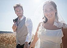 Außenaufnahme ,Hochzeit ,gehen ,freie Natur
