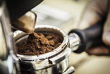 hoch, oben ,nahe ,Maschine ,Boden, Fußboden, Fußböden ,Espresso