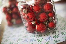 Glas,Weihnachten,Dekoration,rot,Ball Spielzeug
