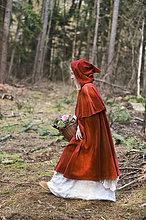 Holz,rot,Bewegung,Maske,Mädchen