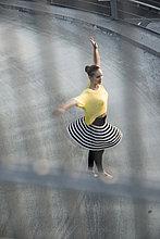 üben,Tänzer,parken,jung,Ballett