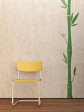 Boden,Fußboden,Fußböden,Wand,Stuhl,gelb,Beton,3D rendering