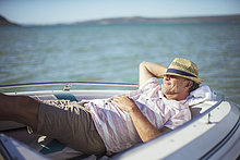 Wasser,Mann,Entspannung,Boot,alt