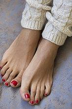 Frau,rot,Menschliche Zehe,Menschliche Zehen