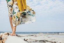 Südliches Afrika,Südafrika,Mörtel,gehen,Strand,Frau,jung,vorwärts
