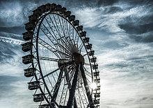 Riesenrad, Oktoberfest, Wiesn, München, Oberbayern, Bayern, Deutschland