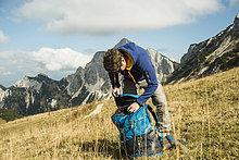 Rucksack,Berg,wandern,Wiese