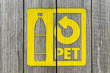 Recycling Symbol Pet-Flasche, Schweiz, Europa