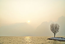 Nebel,See,Italien,Torbole