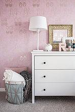 Schlafzimmer,pink,Dekoration,Pastell,Tapete