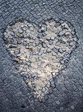 Bürgersteig,Form,Formen,Vernichtung,herzförmig,Herz,mögen