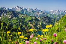 Ansicht,Bayern,Deutschland,Allgäuer Alpen