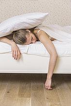 junge Frau,junge Frauen,Bett,schlafen
