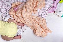 Bett,mischen,kriechen,robben,Mädchen,Baby,Mixed