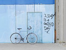 Wand,parken,Fahrrad,Rad,Graffiti
