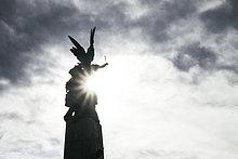 Gegenlicht,Statue,Ansicht,Engel,Spanien