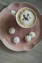 Tasse,weiß,Teller,Schokolade,Kaffee,Rasur
