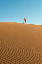 Mann,nehmen,Düne,Namibia,Namib,Gemälde,Bild