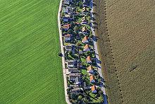 Gebäude,Ansicht,1,Beschluss,Poing,Luftbild,Fernsehantenne,Deutschland