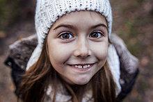 Portrait,lächeln,Hut,Kleidung,Strickkleidung,Mädchen