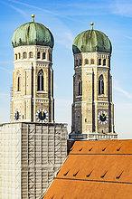 Deutschland, München, Blick auf die Kathedrale Unserer Lieben Frau