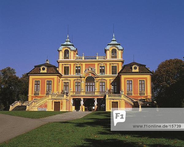 Fassade des Palastes  Lieblings-Palast  Ludwigsburg  Baden-Württemberg  Deutschland