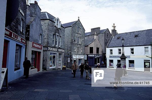Gebäude der Stadt  Lerwick  Shetland-Inseln  Schottland