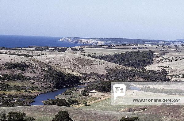 Panoramablick auf Strand  Känguru-Insel  Australien