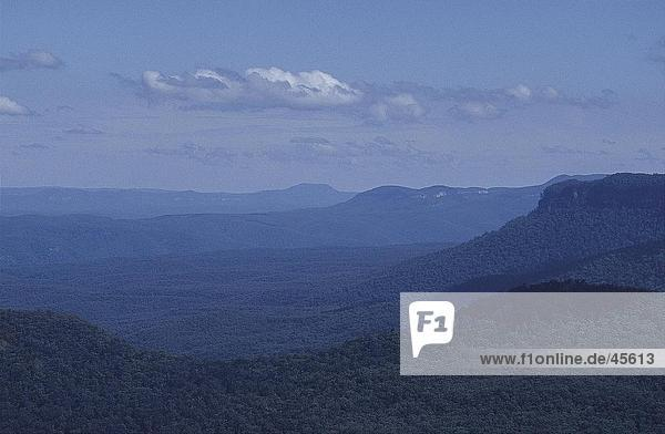 Panoramische Ansicht der Gebirge  Blue Mountains New South Wales  Australien