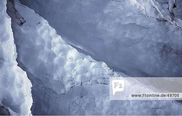 Fissler in blaue Gletschereis  Seward  Alaska  USA